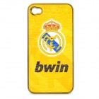 Football Club Badge Pattern Protective ABS Back Case for iPhone 4 / 4S - Real Madrid