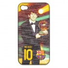 Football Star Pattern Protective ABS Back Case for iPhone 4 / 4S - Golden Ball Award Messi