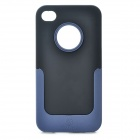NILLKIN Protective PC Back Case w/ Detachable Bottom Frame & Screen Guard for Iphone 4 / 4S - Black