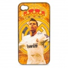 Football Star Pattern Protective ABS Back Case for iPhone 4 / 4S - Real Madrid Cristiano Ronaldo