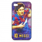 Football Star Pattern Protective ABS Back Case for iPhone 4 / 4S - Barcelona Messi