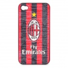 Football Club Badge Pattern Protective ABS Back Case for iPhone 4 / 4S - AC Milan
