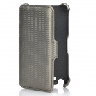 Protective Flip-Open Leather Case for Samsung i9220 - Silver Grey