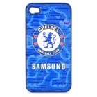 Protective ABS Back Case with Football Team Chelsea Logo for iPhone 4 / 4S - Blue