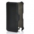 Protective Flip-Open Leather Case for Samsung i9220 - Black