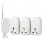 3-Channel Wireless Remote Control AC Power Adapters Set (220V / 3-Flat-Pin Plug)