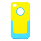 NILLKIN Protective PC Back Case w/ Detachable Bottom Frame / Screen Guard for Iphone 4 / 4S - Yellow