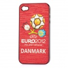 UEFA Euro 2012 Official Logo Protective ABS Back Case for iPhone 4 / 4S - Danmark