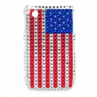 Shining Rhinestone US National Flag Pattern Protective Plastic Back Case for Blackberry 8520 / 8530