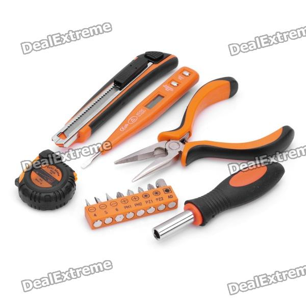 PICASSO PS-C002 14-in-1 Voltage Tester + Screwdrivers + Knife + Pliers + Tape Tools Kit picasso ps g002 9 in 1 hammer screwdrivers voltage tester knife tape pliers tools kit