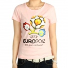 Women's 2012 European Football Championship T-shirt - Pink (Size-S)