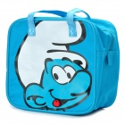 The Smurfs Pattern Small Gadgets Storage Carrying Bag - Blue