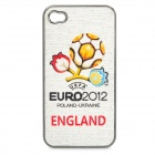 UEFA Euro 2012 Official Logo Protective ABS Back Case for iPhone 4 / 4S - England