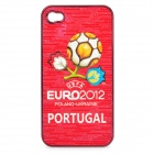 UEFA Euro 2012 Official Logo Protective ABS Back Case for iPhone 4 / 4S - Portugal