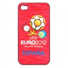 UEFA Euro 2012 Official Logo Protective ABS Back Case for iPhone 4 / 4S - Spain
