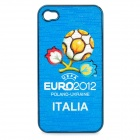 UEFA Euro 2012 Official Logo Protective ABS Back Case for iPhone 4 / 4S - Italy