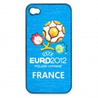 UEFA Euro 2012 Official Logo Protective ABS Back Case for iPhone 4 / 4S - France