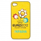 UEFA Euro 2012 Official Logo Protective ABS Back Case for iPhone 4 / 4S - Ukraine