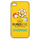 UEFA Euro 2012 Official Logo Protective ABS Back Case for iPhone 4 / 4S - Sweden