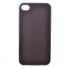 Protective Plastic + PU Leather Cover Case for Iphone 4 / 4S - Silver + Dark Red