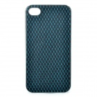 Protective Plastic + PU Leather Cover Case for Iphone 4 / 4S - Silver + Deep Green