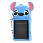 Stitch Style Solar Powered 480mAh External Battery Emergency Power Charger for iPhone/iPad - Blue