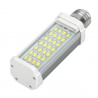 E27 8W 550~650LM 6000~6500K 28x5630 LED White Light Lamp (AC 85~265V)