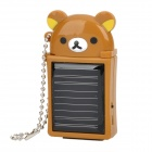 Cute Rilakkuma Style Solar Powered 480mAh Emergency Mobile Power Charger for iPhone/iPod - Brown