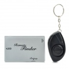 Electronic Key Finder Transmitter Receiver Keychain Set - Silver (1 x CR2016 / 1 x CR2032)