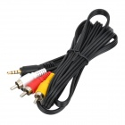 3.5mm TRRS Male to AV 3RCA Male Cable - Black (147cm-Length)