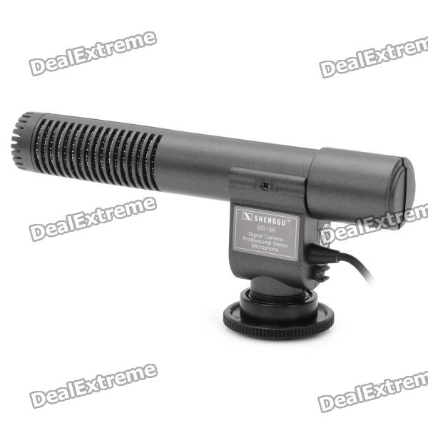 Professional Stereo Microphone for DV Camcorder (1 x CR2) professional directional stereo microphone 1 x cr2