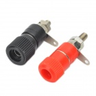 Speaker Connector Socket Terminal Blocks - Red + Black (Pair)