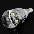 E14 3W 6500K 200-Lumen 3-LED White Light Bulb (220V)