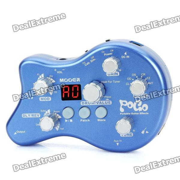 Genuine MOOER POGO Portable Guitar Effect - Blue + Silver (2 x AAA)