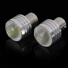 BAU15S S25 3W White 1-LED 260-280LM 6000-6500K Car Brake / Turning / Reverse Light (DC 12V / Pair)