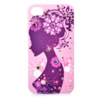 Joyroom Protective Bling Diamond PC Back Case w/ Screen Guards & Cloth Set for Iphone 4 / 4S - Pink