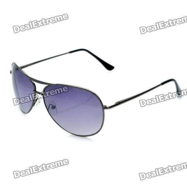Classic Cupronickel Frame Resin Lens UV 400 Protection Sunglasses - Silver Grey