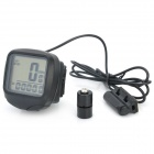 YS-468A Electronic Bicycle Computer/Speedometer - Black (1 x LR44)
