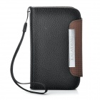 KALAIDENG Protective PU Leather Flip-Open Case for Blackberry 9360 - Black + Coffee