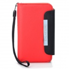 KALAIDENG Protective PU Leather Flip-Open Case for Iphone 4 / 4S - Red + Black