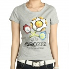 Women's 2012 European Football Championship T-shirt - Light Grey (Size-M)