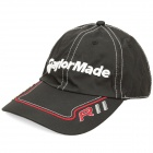 Stylish Water Resistant Baseball Cap Hat with Magnetic Ball Marker - TaylorMade Logo (Black)