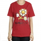 Women's 2012 European Football Championship T-shirt - Red (Size-S)