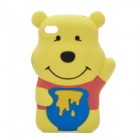 Cute Winnie the Pooh Style Protective Silicone Back Case for iPhone 4S - Yellow