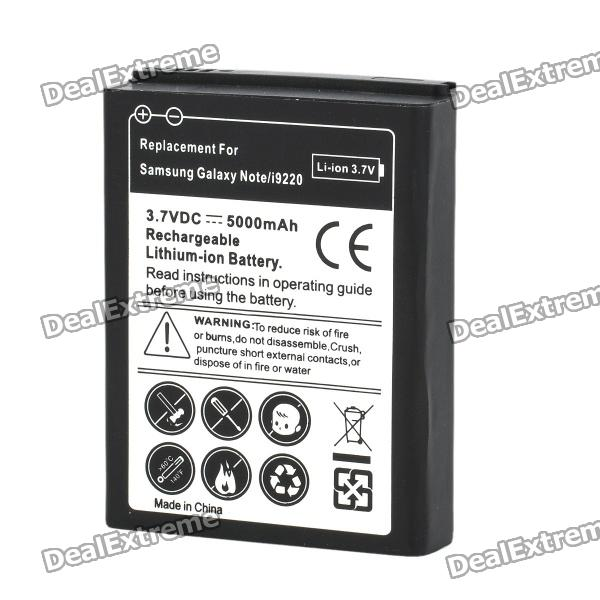 все цены на Replacement 3.7V 5000mAh Extended Battery w/ Back Cover for Samsung i9220 - White онлайн