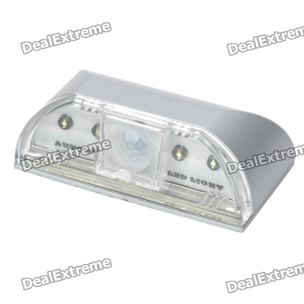 Auto PIR Keyhole IR Sensor 4-LED White Light Lamp (1 * AA / LR06 )