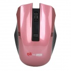 2.4GHz Wireless Optical Mouse w/ USB Receiver - Black + Pink (1 x AA)