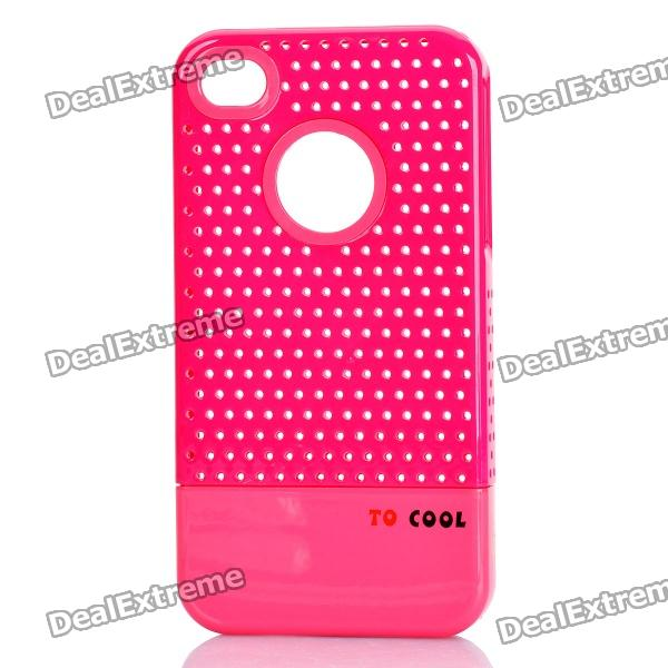 Fashion Stylish 3-in-1 Protective Back Cover Case for Iphone 4/4S - Pink + White + Deep Pink stylish bubble pattern protective silicone abs back case front frame case for iphone 4 4s