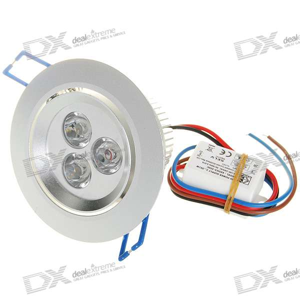 3*1W 3W 180-Lumen White LED Spot Light Module with Constant Current Driver (100V~240V AC) цены онлайн