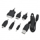6-in-1 USB Charging Cable for iPhone / iPad / Nokia N90 / LG KG90 / Samsung i9100 + More - Black